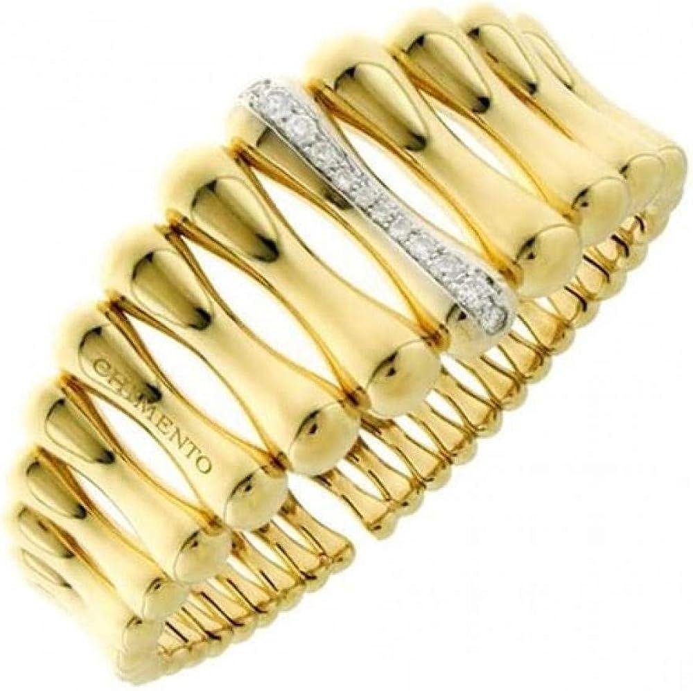 Chimento,bracciale rigido per donna,in oro 18kt(21,4 gr)con incassati diamanti 0,27 ct 1B05894B12180