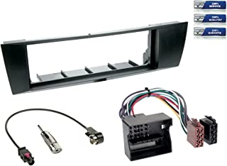 NIQ 1 DIN Radioeinbau Komplettset kompatibel mit BMW 1er / 3er (Typ E87 / Typ E90 93) *schwarz*