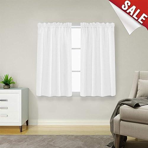 Short Window Curtains For Bathroom Amazon Com