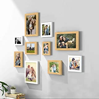Art Street Set of 10 White & Beige Wall Photo Frame, Picture Frame for Home Decor with Free Hanging Accessories-Size- 4x6,...