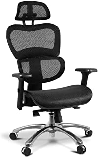 Executive Deluxe Office Mesh Chair Net High Back Home School Gaming Black Seat