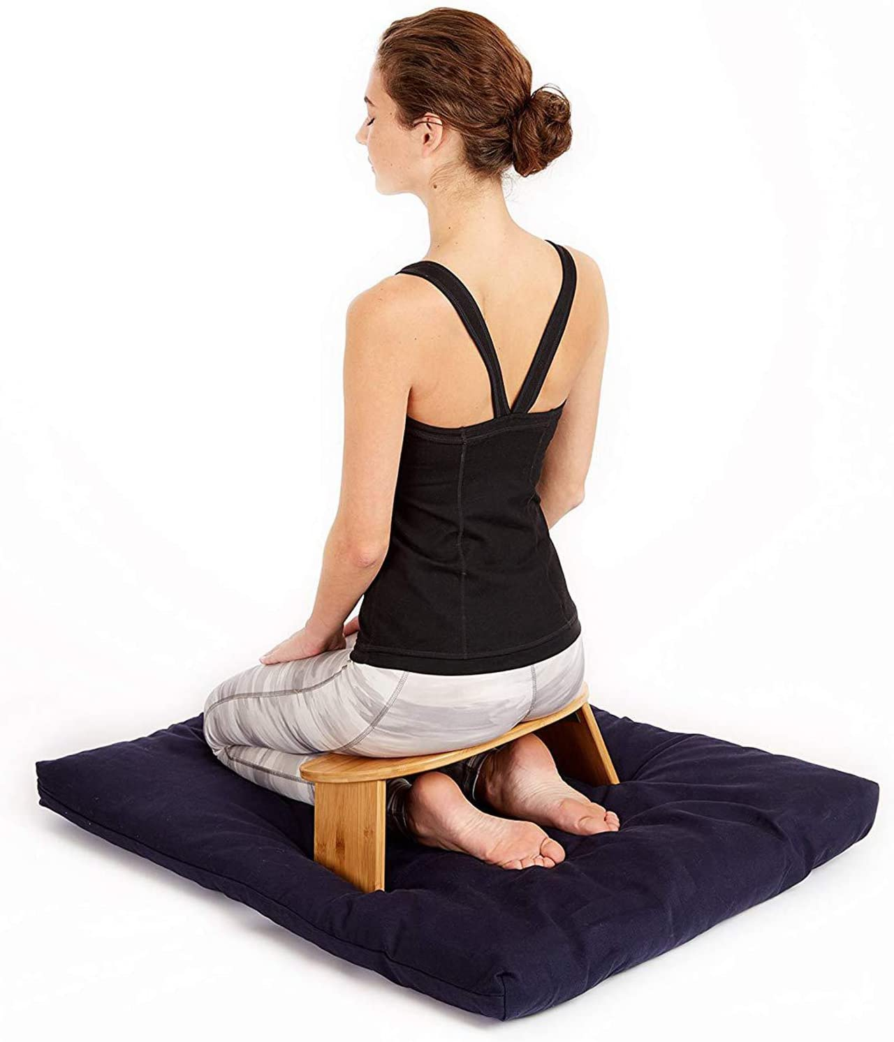 Portable Meditation Bench Finished Bamboo Low Legs Department store Se Daily bargain sale Folding