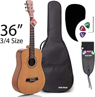 3/4 Size (36 Inch) Acoustic Guitar Bundle Junior/Travel Series by Hola! Music with..