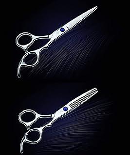 e59c73827 Profesional flequillo adelgazante cortar los dientes corte de peluquería  plana conjunto de tijeras de peluquería del