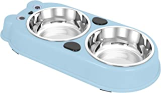 Upsky Double Dog Cat Bowls Double Premium Stainless Steel Pet Bowls with Cute Modeling Pet Food Water Feeder