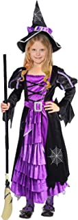 Halloween Witch Costume Fancy Party Dress Up Outfit for Girls