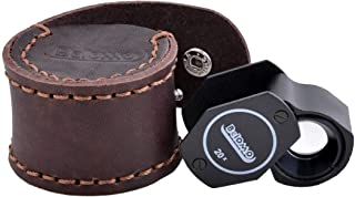 BelOMO 20x Triplet Loupe Magnifier with Leather CASE. 17.5mm (.5