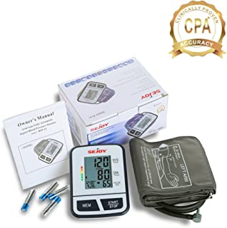 Automatic Upper Arm Blood Pressure Monitor, Large Digital Screen, Easy to Use, Standard and Large Universal Arm Cuff, Batteries Included, SEJOY BSP-11 Series …