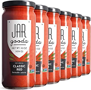 Jar Goods Classic Red Tomato Sauce 16 oz Glass Jars (Pack of 6)