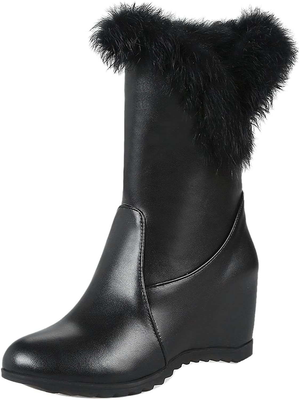 FizaiZifai Women Pull On Boots Hidden Heel