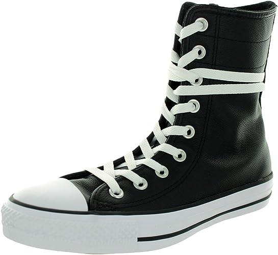Converse Wohommes Chuck Taylor Hi-Rise XHI noir blanc Décontracté chaussures 7.5 femmes US