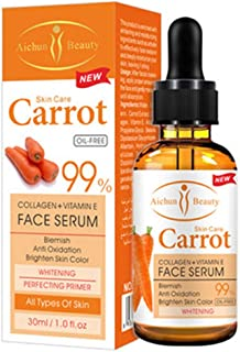 AICHUN BEAUTY Serum 99% Vitamin E Collagen Face Lifting Smoothing Oil Control Acne Perfecting Primer 4 Type (#04 CARROT)