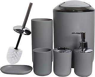 CERBIOR Bathroom Accessories Set Bath Ensemble Includes Soap Dispenser, Toothbrush Holder, Tumbler, Soap Dish for Decorati...