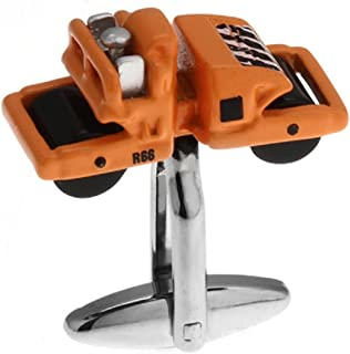 MRCUFF Road Roller Paver Pair Cufflinks in a Presentation Gift Box & Polishing Cloth