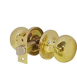 Slot Passage Lock Gold Deurgrepen voor binnendeuren Voorkant Poortknop met verstelbare grendel Keyless Aisle deurslot Strong