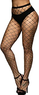 Women's Hollow Out Rhinestone Fishnet Pantyhose Tights