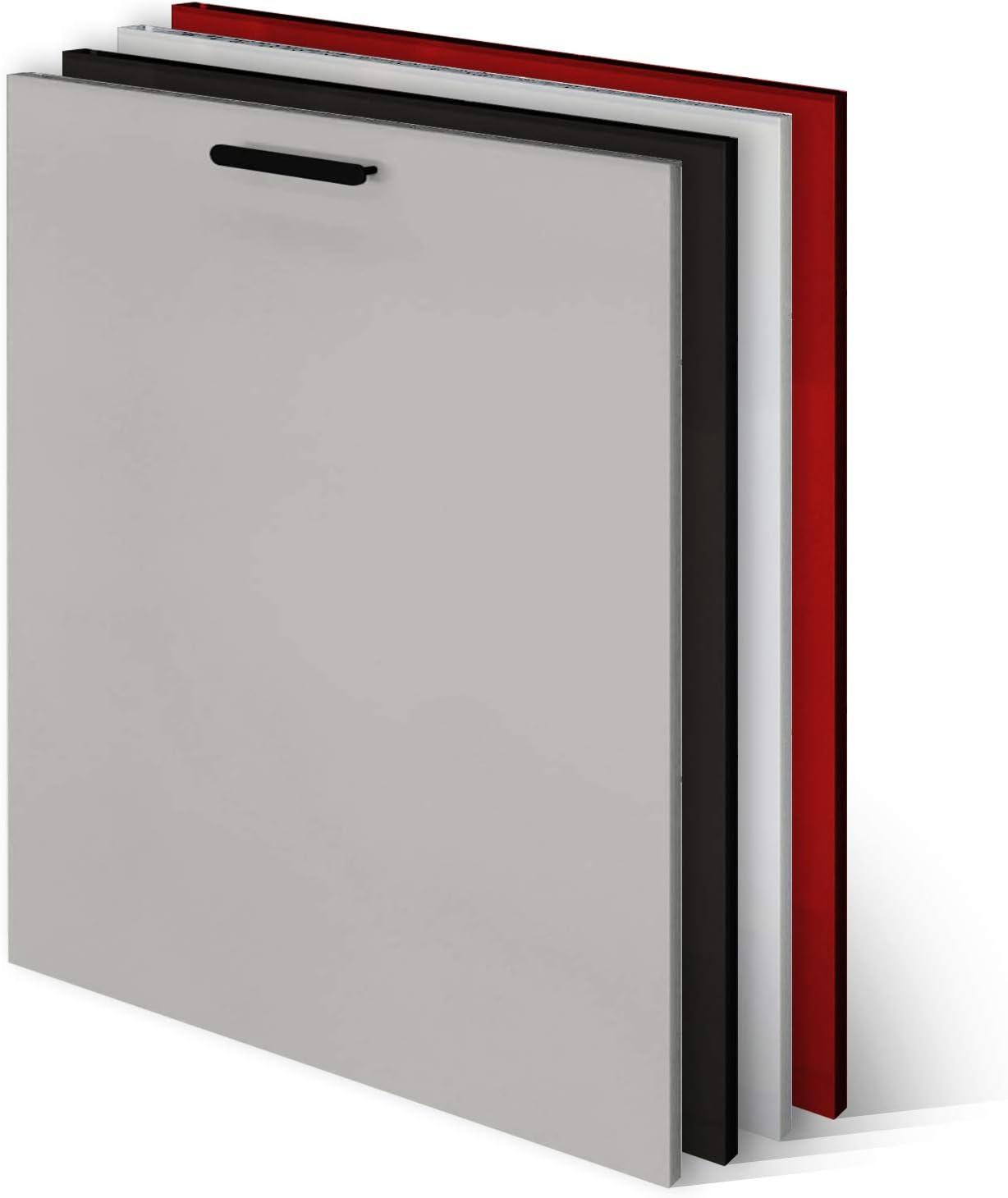 KLEMP Panel frontal para lavavajillas, 594 x 565 mm, Cool Grey Mat