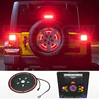LEDGlow Spare Tire LED Third Brake Light for 2007-2018 Jeep Wrangler JK - Plug & Play with Factory Connectors - Splice-Free Installation - Waterproof