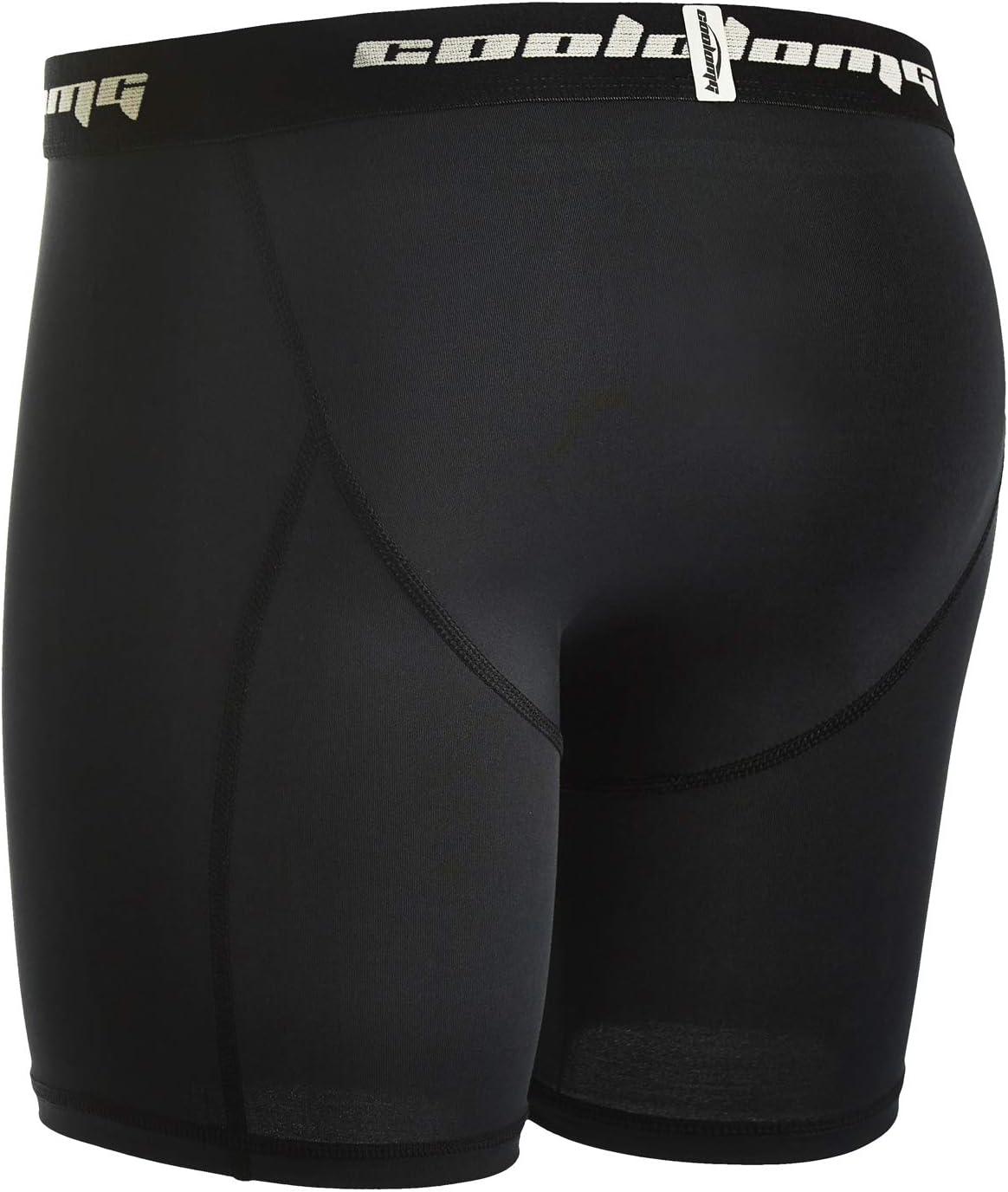 gar/çon sous-v/êtements fonctionnels multi-usages COOLOMG Short de compression pour enfant avec bonnet pantalon de sport boxer de protection profonde