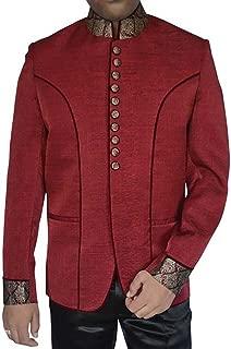 Mens Maroon Velvet 2 Pc Jodhpuri Suit JO280