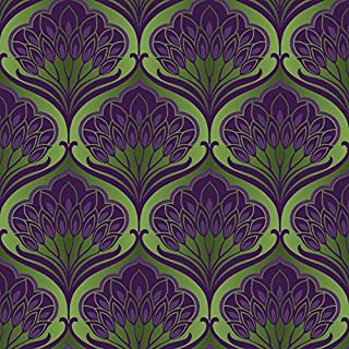 Arthouse, Pavonis Emerald City Green and Purple Wallpaper, Modern Home Décor