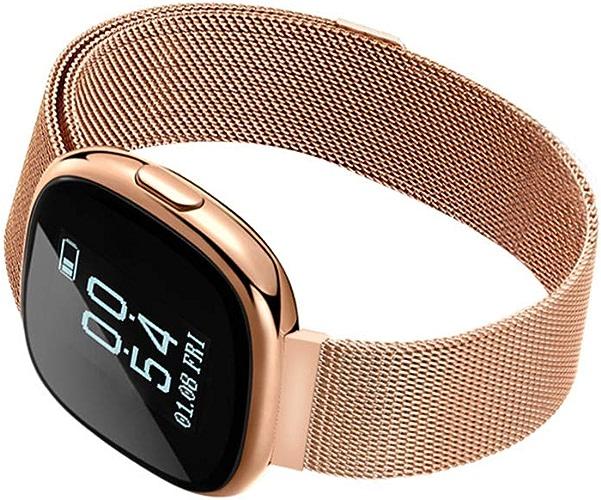 ALXDR Bracelet Intelligent Fitness Tracker étanche Pression Artérielle Moniteur De Fréquence Cardiaque Sport Montre d'affaires Bracelet Multifonction,jaune