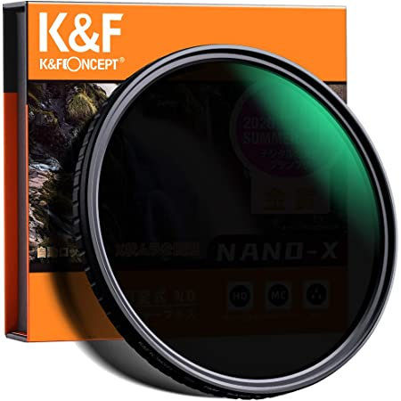 減光NDフィルター 77mm 可変式 X状ムラなし ND2-ND32フィルター 薄型 レンズフィルター K&F Concept【メーカー直営店】