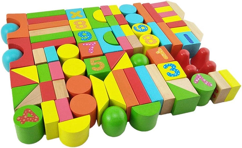 Disfruta de un 50% de descuento. Chengzuoqing Juguetes Juguetes Juguetes de projoección Ambiental para Niños de Lad Juego de Bloques de construcción de Madera de 100 Piezas para Niños y Niños Mayores de 3 años Aprendizaje formativo  solo para ti