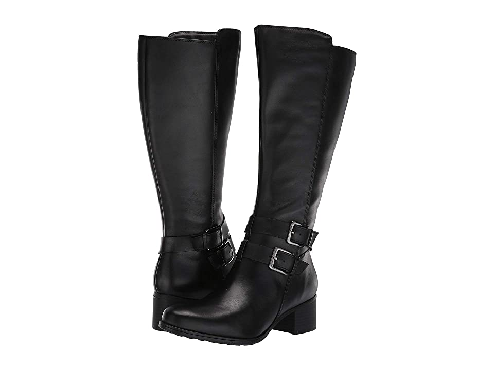 Naturalizer Dale Wide Calf (Black Waterproof Leather) Women