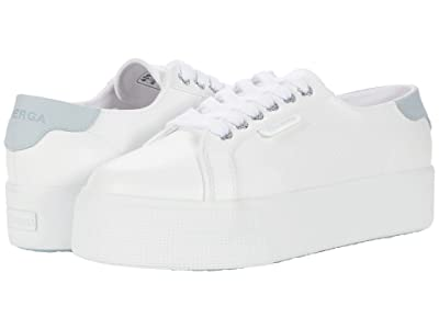 Superga 2790 Synleanappaw Nubuck (White/Light Blue) Women