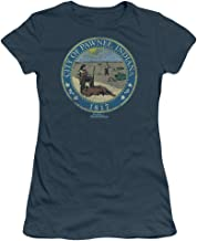Sons of Gotham Parks and Rec Distressed Pawnee Seal Junior T-Shirt