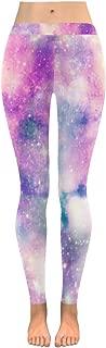 Custom Galaxy Star Unicorn Stretchy Capri Leggings Pants for Yoga Running Gym(2XS-5XL)
