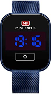MINI FOCUS Men Digital Watch Classic Electronic Wrist Watch with Calendar 3ATM Waterproof Steel Mesh Strap