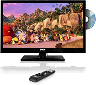 """Pyle 23.6"""" 1080p LED TV, Multimedia Disc Player, Ultra HD TV, LED Hi Res Widescreen Monitor w/HDMI Cable RCA Input, LED TV Monitor, Audio Streaming, Mac PC, Stereo Speakers, Wall Mount (PTVDLED24)"""