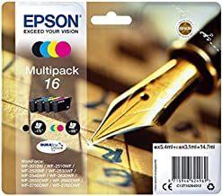 Epson C13T16264010 - Cartucho de tinta, color (4 unidades), ahora disponible en Amazon Dash Replenishment