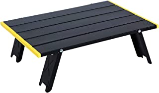 AIMEZO Folding Camping Table, Mini Aluminum Alloy Picnic Camp Table Lightweight Compact Roll Up Picnic Table for Picnic, C...