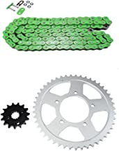 Green O-Ring Chain and Sprocket Kit for Suzuki GSF 600 Bandit Road 1995 1996 1997 1998 1999