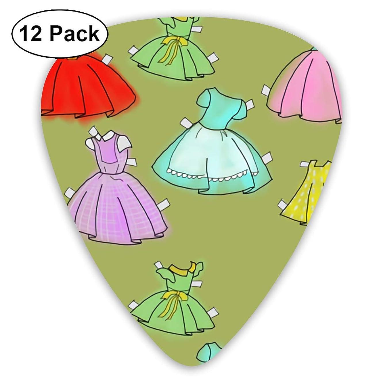 Girl Skirt Bendy Ultra Thin 0.46 Med 0.73 Thick 0.96mm 4 Pieces Each Base Prime Plastic Jazz Mandolin Bass Ukelele Guitar Pick Plectrum Display