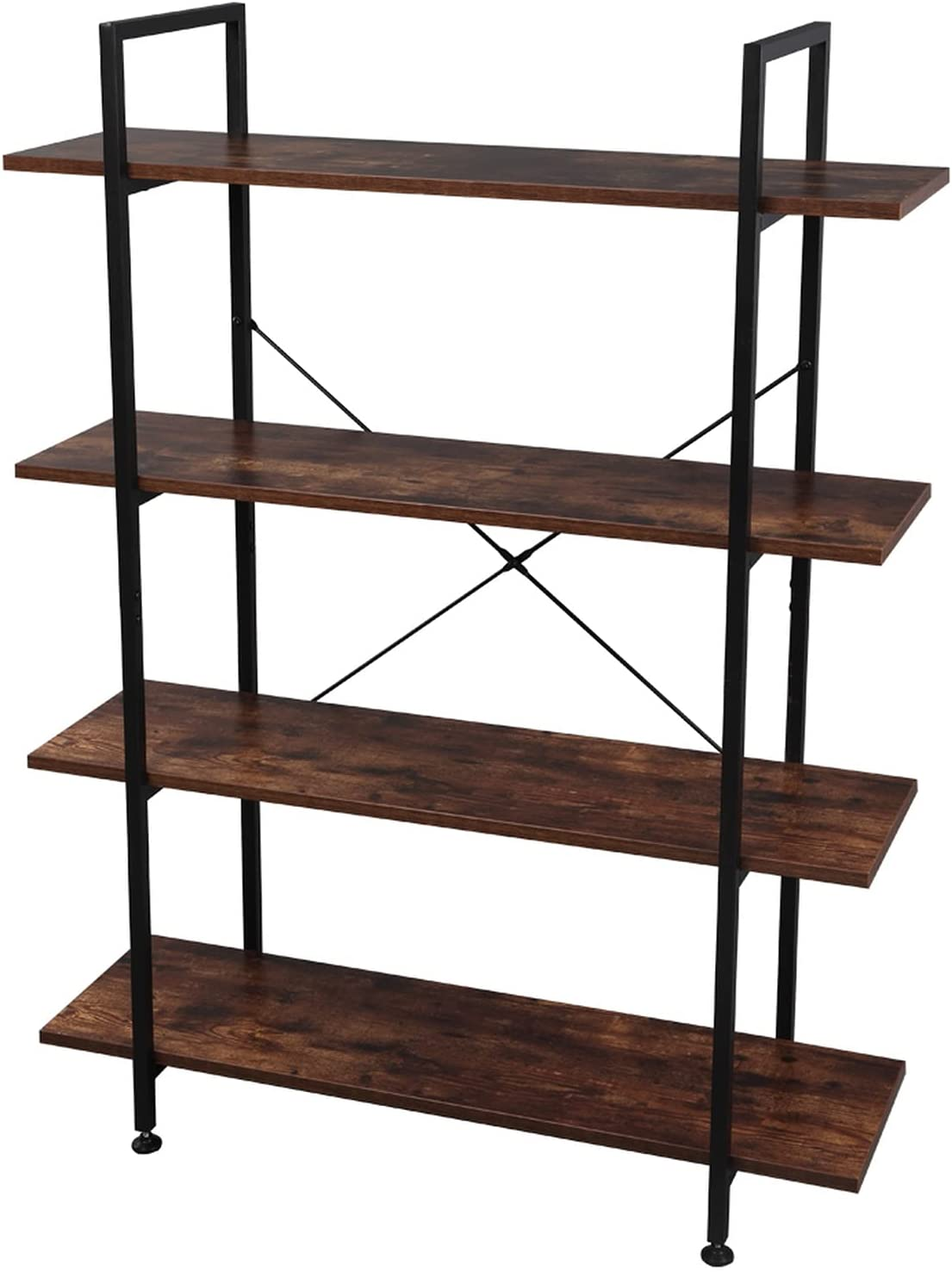 TZhiJian 4-Tier Bookcase and Today's Now free shipping only Metal Bookshe Bookshelves Wood
