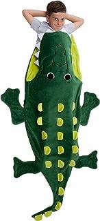 Silver Lilly Animal Blanket - Plush Animal Tail Sleeping Bag Blanket for Kids (Crocodile)