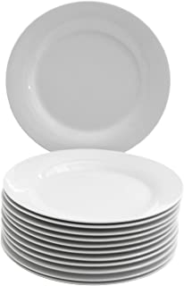 """10 Strawberry Street 7.5"""" Catering Plate (Set of 12), SALAD, White"""