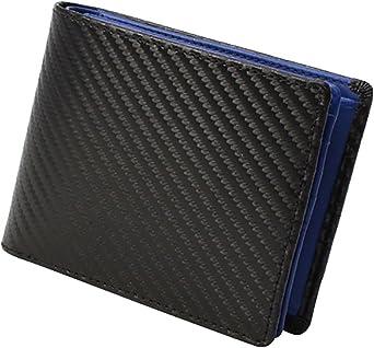 【メール便でお届け】 財布 メンズ レディース 二つ折り 本革 皮 大容量 小銭入れ ビジネス ウォレット レザー カード ボックス カーボン DECOS 牛革二つ折財布
