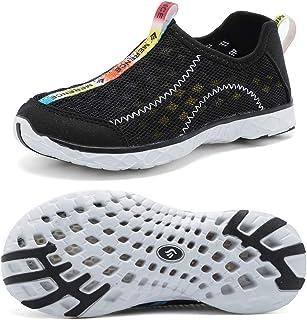 cior 儿童透气一脚蹬运动鞋跑步泳池海滩幼儿/小童/大童