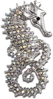 Vintage Brooches Crystal Rhinestones Brooch Pin Breastpin Jewelry Accessories (Seahorse)