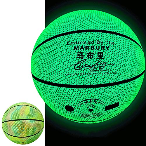 Affordable YZPXDD Reflective Glowing Holographic Luminous Basket Ball- Light Up Camera Flash Glow in...