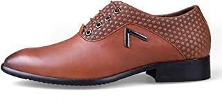 Men's Summer Leather Dress Shoes, Business Casual and Comfortable Classic Leather Men's Dress Shoes