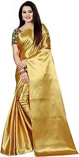 SHREE SWASTIK ENTERPRISE Women's Satin & Silk Saree With Blouse Piece