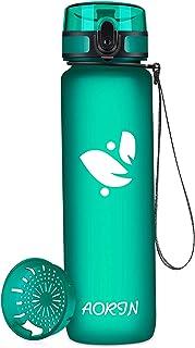 AORIN Botella Agua Deporte -350ml/500ml/750ml/1000ml - Botella Agua Niños Sin BPA,Impermeable y Reutilizable,Apertura con ...