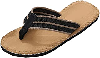 Men Summer Flip Flop Shoes Men Home Non-Slip Breathable Slipper Male Slipper Indoor/Outdoor Beach Flip Flops Sandals
