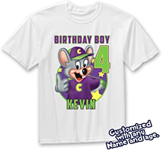 CHUCK E CHEESE GIRL OR BOY Birthday shirt Personalized birthday shirt